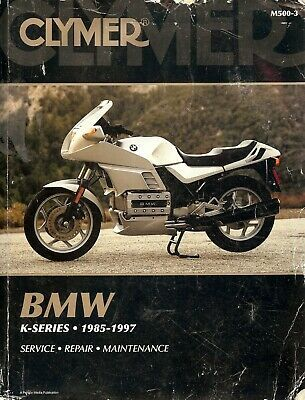 Details About 1985 To 1997 Bmw K75 K100 Motorcycle Service Manual Clymer Bmw Clymer Bmw Motorcycle Repair