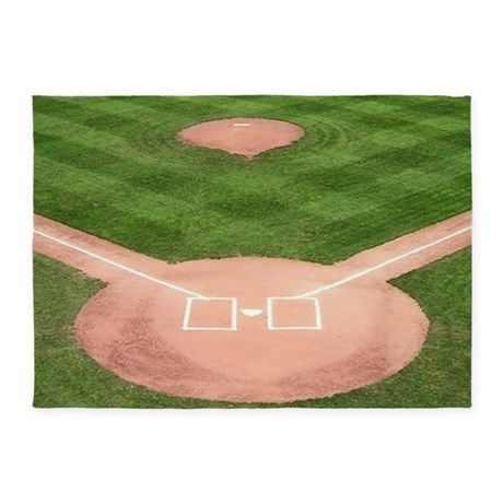 Baseball Field 5 X7 Area Rug By