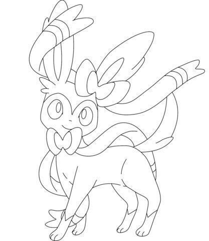 Sylveon Para Colorear Pokemon Coloring Pages Pokemon Coloring