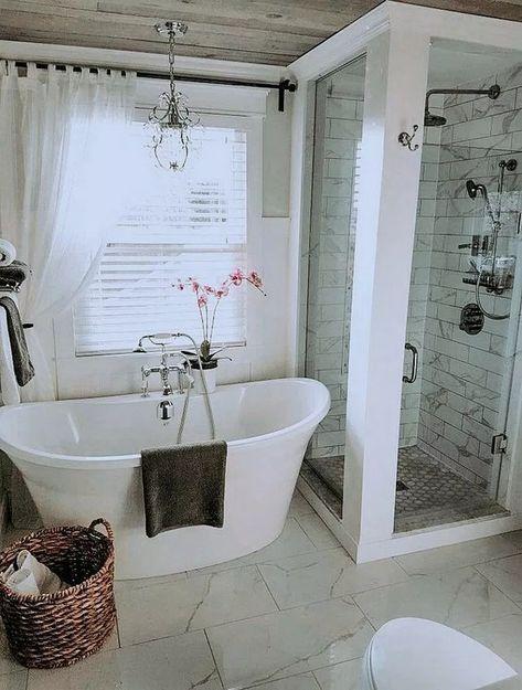 💓 100 Inspiring Great Master Bathroom Remodel Ideas On A Budget 5114 #masterbatroomremodel #bathroomremodelonbudget #bathroomideas