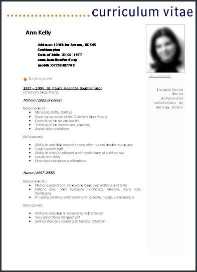 Curriculum Vitae Word Modelo De Curriculum Vitae Lavoro Modelle