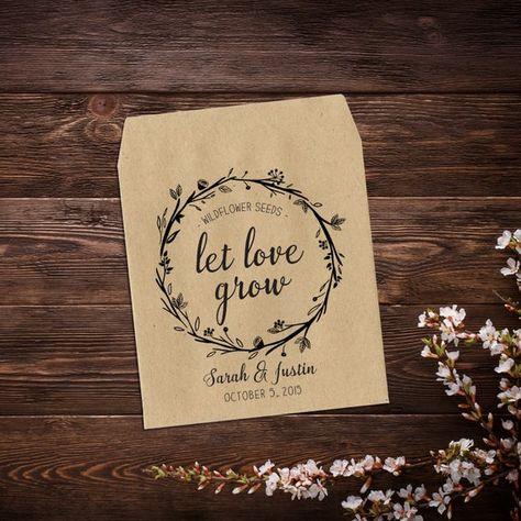 Personalized Seed Packet, Seed Favors, Wedding #seedpackets #seedfavors #weddingfavors #weddingseedfavor #wildflowerseeds #letlovegrow #weddingseedpackets #rusticwedding #bohowedding #seedpacketfavors #personalizedfavor #seedpacketfavor #customseedpackets
