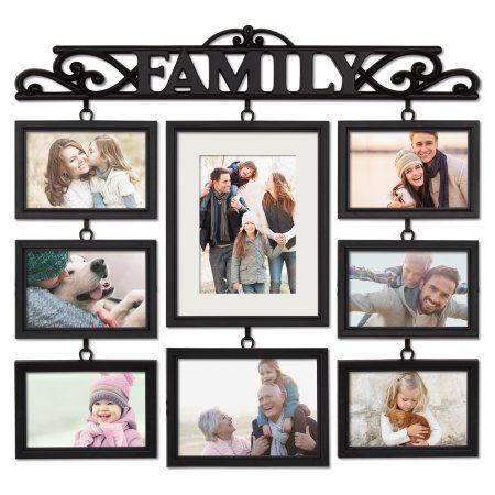 Mainstays 8 Opening Family Collage Photo Frame Black Family Collage Family Collage Frame Photo Collage