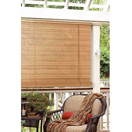 Radiance Quarter Inch Oval Vinyl Roll Up Blinds Walmart Com