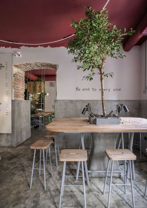 Image 9 of 17 from gallery of OMNOMNOM Vegan Cafe / replus design bureau. Photograph by Dmytro Sorokevych