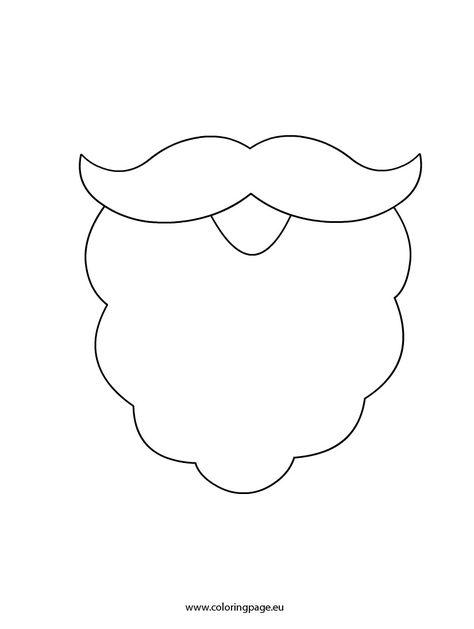 Santa Beard Coloring Page Santa Beard Santa Coloring Pages