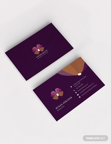 Makeup Artist Business Card Template Word Psd Apple Pages Illustrator Publisher Makeup Artist Business Cards Templates Examples Of Business Cards Business Cards Diy Templates