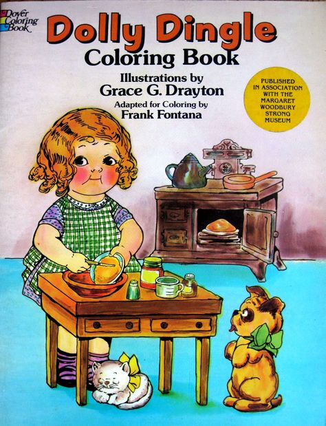 Dolly Dingle Greeting Card Google Images Vintage Coloring Books Coloring Books Vintage Children S Books
