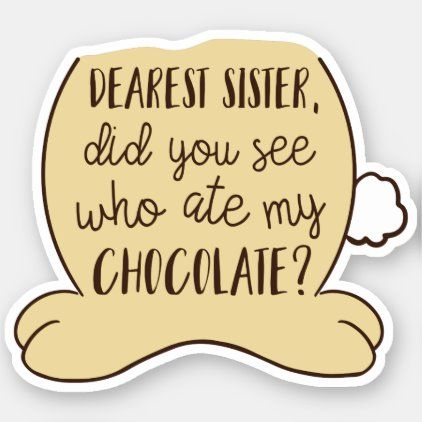 Easter Quote Funny Typography Sister Sibling Sticker Zazzle Com Easter Quotes Funny Easter Quotes Easter Humor