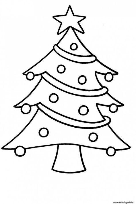Coloriage Sapin De Noel Facile Pour Enfants Dessin 4853 Sapin Noel