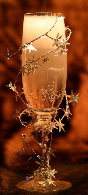 Stars on sparkling cider