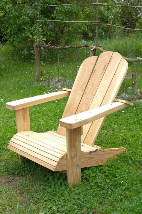 Fauteuil De Jardin Adirondack Par 3collines Sur Etsy 350 00