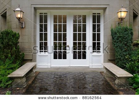 Images For - Front Double Doors With Glass | A Front Door Wreath | Pinterest | Stone bench Stone walkway and Walkways & Images For - Front Double Doors With Glass | A Front Door Wreath ...