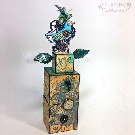 Steampunk Bird ATB Tower with Stampendous   Pluckingdaisies.com