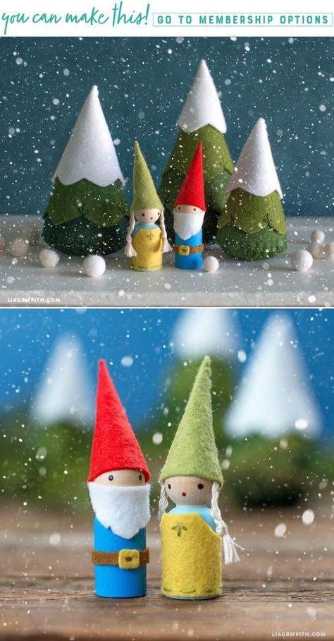 felt Whimsical Felt Gnomes - Lia...