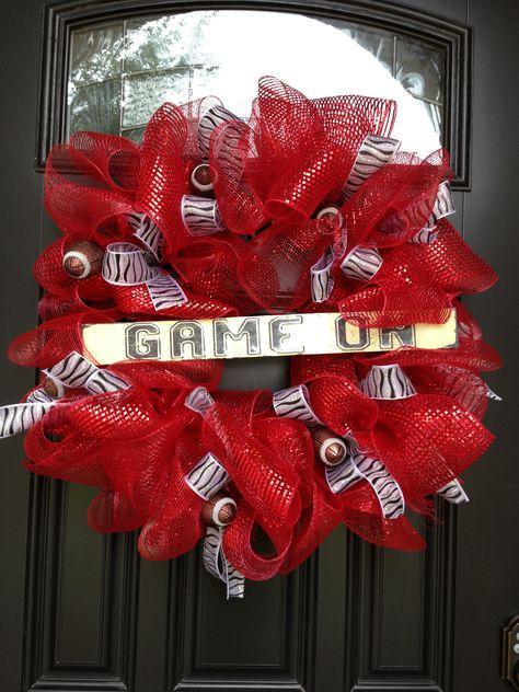 Football wreath...