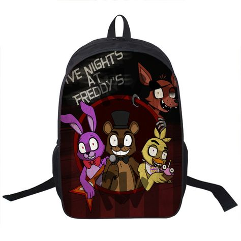 Five Nights at Freddy's Backpack gamer gaming bag school unisex hip books laptop travel carry on luggage costume toy
