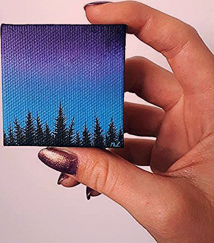 Titel A Forest Grosse 2 Zoll X 2 Zoll 1 Cm Dick Medium Professionelle Forest Grosse Medium Paintingartideas P In 2020 Art Acrylic Painting Painting