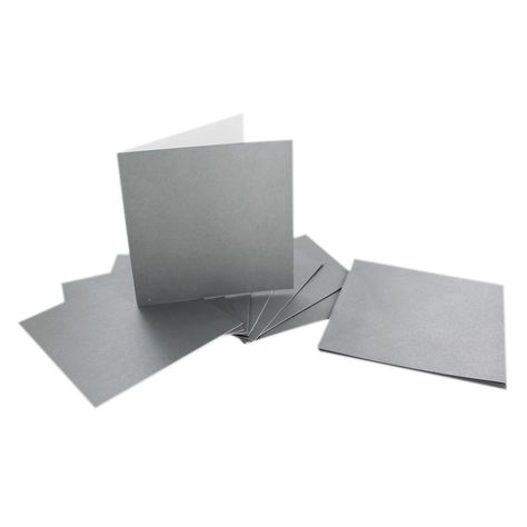 Silver Metallic Cards And Envelopes 6 X 6 Inches Blank Cards