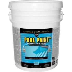 Dyco Pool Paint 5 Gal 3151 Ocean Blue Semi Gloss Acrylic Exterior Paint Dyc3151 5 The Home Depot Pool Paint Stained Concrete Exterior Paint