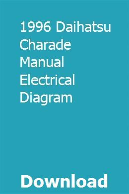 1996 Daihatsu Charade Manual Electrical Diagram Electrical