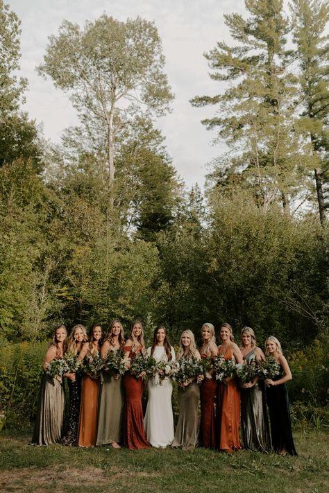 Wedding Wishes, Fall Wedding, Boho Wedding, Dream Wedding, Autumn Weddings, Christmas Wedding, Wedding Things, Bridesmaid Dress Colors, Wedding Bridesmaid Dresses