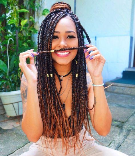 Pode postar foto do mês passado? in 2019 | Box braids