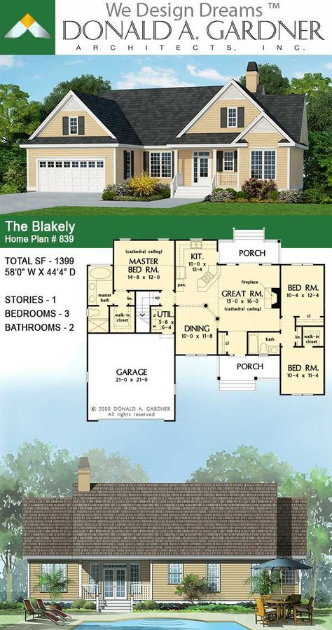 The Blakely Small Craftsman Home Plan Craftsman House Plans Craftsman House House Plans
