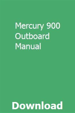 Mercury 900 Outboard Manual Excavator For Sale Outboard Manual