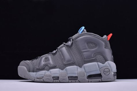 VILLA x Alexander John x Nike Air More Uptempo Grey Blue Red Men s and  Women s Size Shoes 921948-701 d694398f8