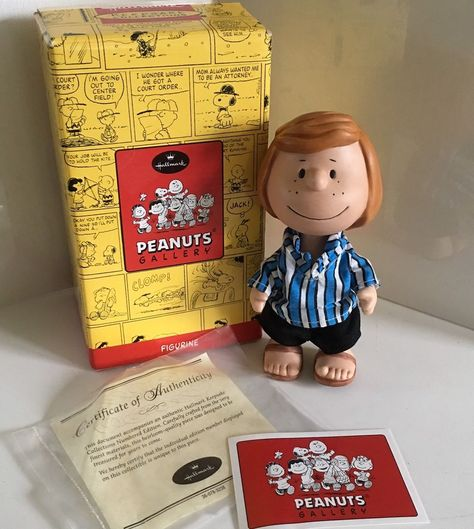 hallmark peanuts gallery peppermint patty porcelain doll boxed