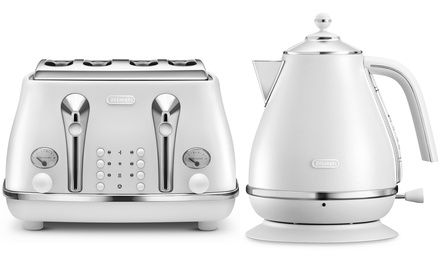 Russell Hobbs My Breakfast 1.7L Electric Kettle /& 2 Slice Toaster White /& Black