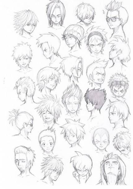 Drawing Tutorial Hair Male Deviantart 68 Ideas Drawing Hair Tutorial Manga Hair Anime Hair