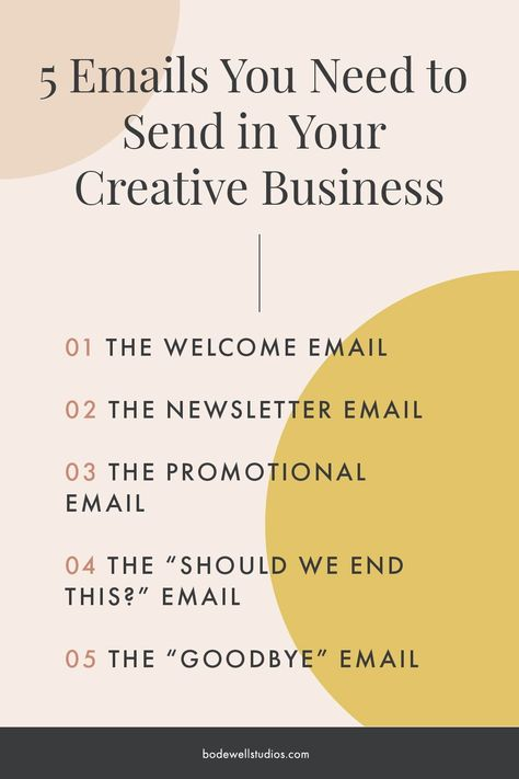 Emails You Need to Be Sending in Your Creative Business — Bodewell Studios