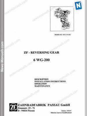 Zf Reversing Gear 6wg 200 Models Repair Manuals Repair Manuals Manual Repair