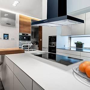 Luxair La 90 Flt Isl 90cm Flat Island Cooker Hood Black Island Cooker Hoods Kitchen Island With Cooker Cooker Hoods