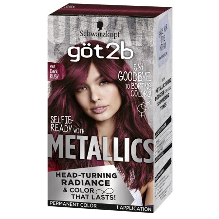 Beauty Permanent Hair Color Dark Red Hair Dye Metallic Hair Color