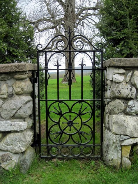 Custom Ornamental Iron Garden Gates And Pool Gates, Single And Double  Opening Doors | Garden Fences, Gates, Walls, Portals, Screens | Pinterest |  Iron ...