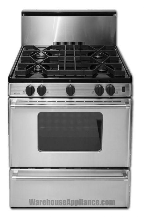 P30 B320 2ps Premier Pro Series 30 Inch Wide Gas Range Nbsp W Panel And Oven Window Great For Off Grid Homes Propane Refrigerators Stainless Steel Range Gas