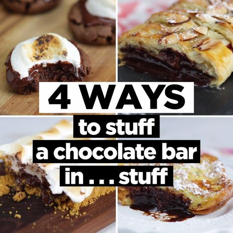 From a s'mores tart to stuffed French toast, chocolate bars have endless tasty potential!
