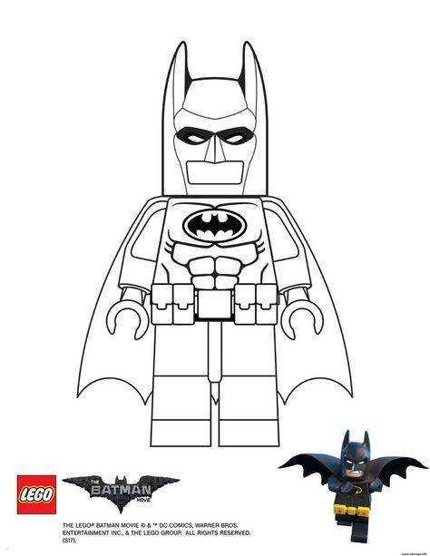 Batman Lego Para Colorear