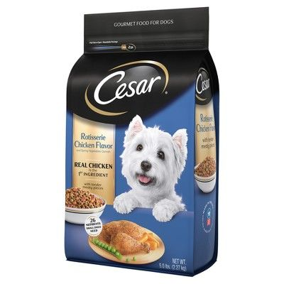 Cesar Rotisserie Chicken Flavor With Spring Vegetables Dry Dog