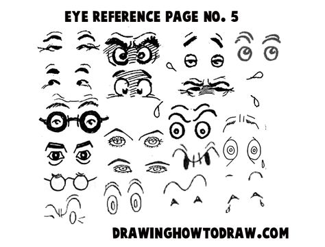 Step 05 eyes reference 300x228 Drawing Cartoon & Illustrated Eyes Reference Sheets