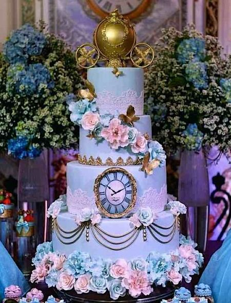 Cake Wrecks - Home - Sunday Sweets: Disney Princess Wedding Cakes Cinderella Quinceanera Themes, Quinceanera Planning, Quinceanera Cakes, Quinceanera Decorations, Cinderella Sweet 16, Cinderella Theme, Cinderella Birthday, Disney Sweet 16, Cinderella Invitations