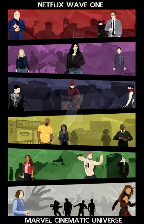 Marvel Cinematic Universe Netflix Wave I Poster by Mr-Saxon on DeviantArt
