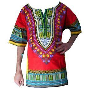 Details about Dashiki Shirts African Dresses Men Women Hippie Mexican  Tribal Caftan Top Blouse