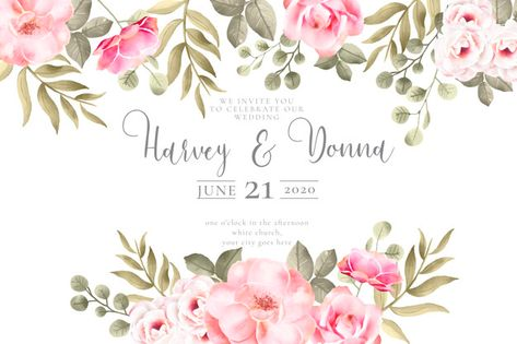 Download Elegant Minimalistic Floral Wedding Invitation Template
