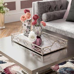 Yeadon Coffee Table Tray In 2020 Coffee Table Tray Mirror Tray Coffee Table