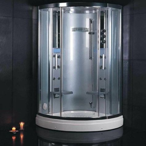 These units are fully loaded steam shower enclosures, with a built - bing steam shower