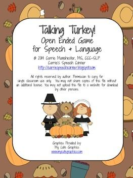 TaLKING TURKEY   The object of the game is to collect the most turkeys. Beware of the pilgrims as they scare all of the turkeys away!  Directions: To play, place all cards face down in the center of the table.